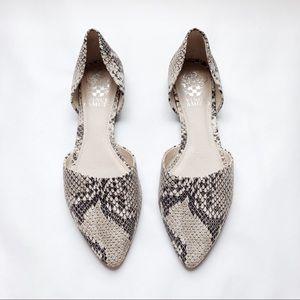 VINCE CAMUTO Felise Snakeskin Leather Flats 6